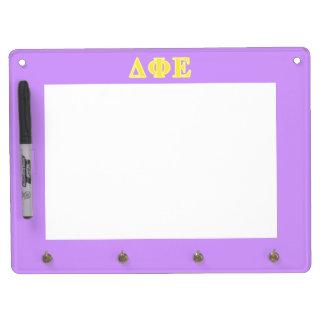Delta Phi Epsilon Yellow Letters Dry-Erase Board