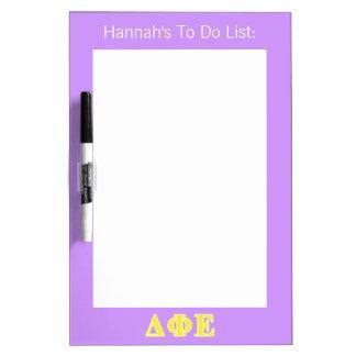 Delta Phi Epsilon Yellow Letters Dry-Erase Whiteboards