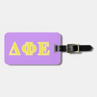Delta Phi Epsilon Yellow Letters Travel Bag Tags
