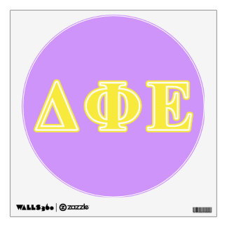Delta Phi Epsilon Yellow Letters Wall Sticker