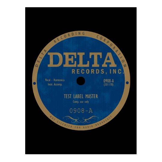 Delta Records label Postcard