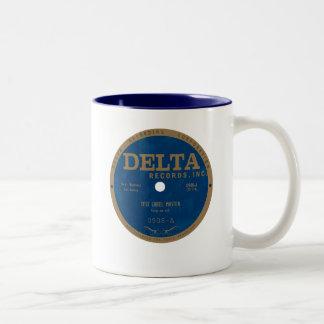 Delta Records label Two-Tone Coffee Mug
