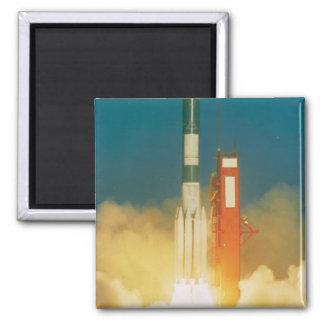 Delta Rocket Take-Off 2 Inch Square Magnet