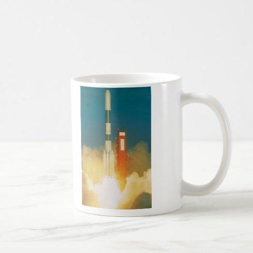 Delta Rocket Take-Off Classic White Coffee Mug
