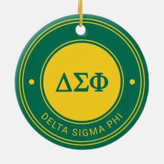 Delta Sigma Phi | Badge Ceramic Ornament
