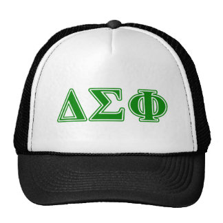Delta Sigma Phi Green Letters Trucker Hat