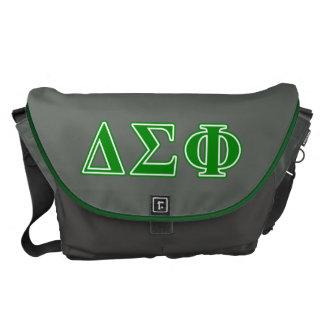 Delta Sigma Phi Green Letters Messenger Bag