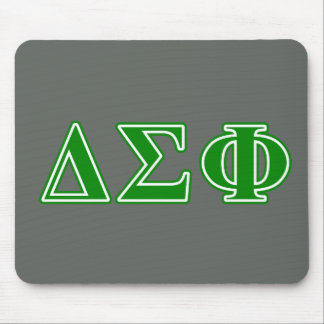 Delta Sigma Phi Green Letters Mouse Pad