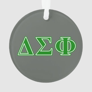 Delta Sigma Phi Green Letters Ornament