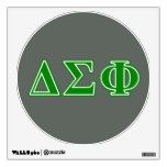 Delta Sigma Phi Green Letters Room Graphics