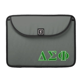 Delta Sigma Phi Green Letters Sleeve For MacBook Pro