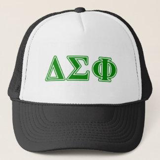 Delta Sigma Phi Green Letters Trucker Hat