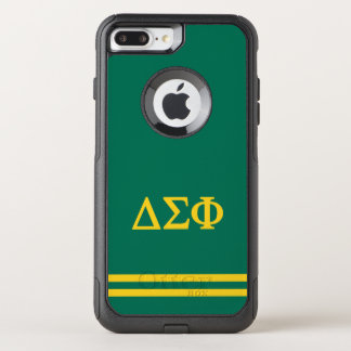 Delta Sigma Phi | Sport Stripe OtterBox Commuter iPhone 8 Plus/7 Plus Case