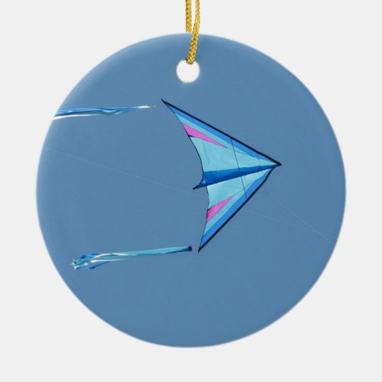 Delta Sport Kite Blue Ceramic Ornament