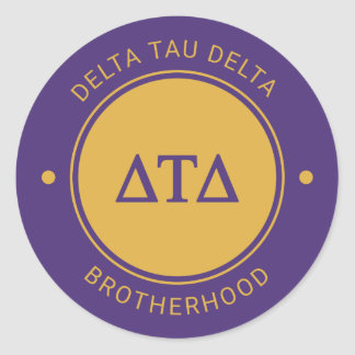Delta Tau Delta | Badge Classic Round Sticker