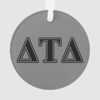 Delta Tau Delta Black Letters