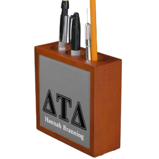 Delta Tau Delta Black Letters Desk Organizers