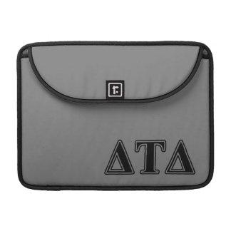 Delta Tau Delta Black Letters MacBook Pro Sleeves
