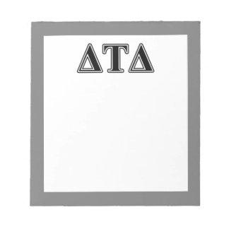 Delta Tau Delta Black Letters Memo Notepads