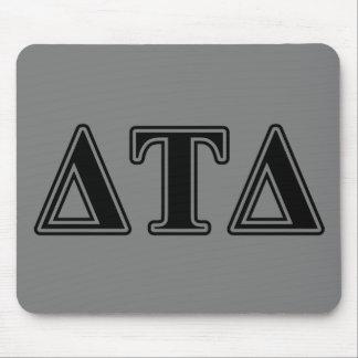 Delta Tau Delta Black Letters Mouse Pad