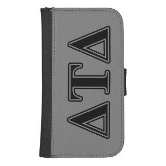 Delta Tau Delta Black Letters Phone Wallet Cases