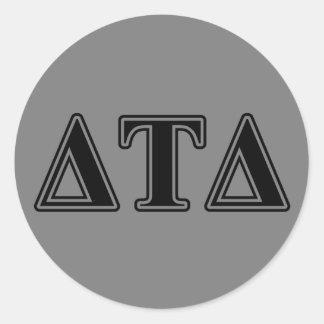 Delta Tau Delta Black Letters Sticker