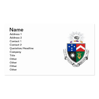 Delta Tau Delta Coat of Arms Double-Sided Standard Business Cards (Pack Of 100)