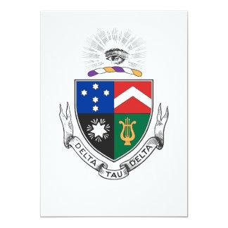 Delta Tau Delta Coat of Arms Card