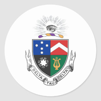 Delta Tau Delta Coat of Arms Classic Round Sticker