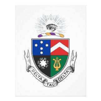 """Delta Tau Delta Coat of Arms 8.5"""" X 11"""" Flyer"""