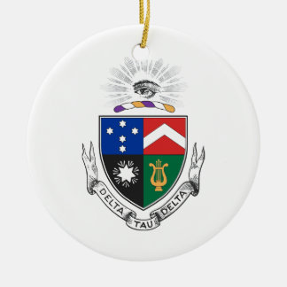 Delta Tau Delta Coat of Arms Double-Sided Ceramic Round Christmas Ornament