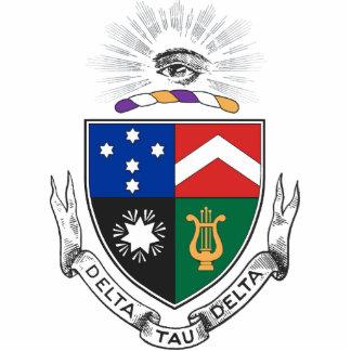 Delta Tau Delta Coat of Arms Standing Photo Sculpture