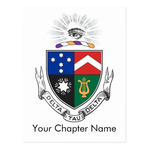 Delta Tau Delta Coat of Arms Postcard