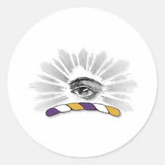 Delta Tau Delta Eye Round Stickers