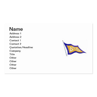Delta Tau Delta Flag Double-Sided Standard Business Cards (Pack Of 100)