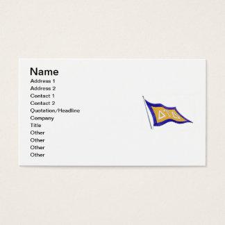 Delta Tau Delta Flag Business Card