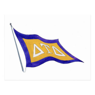 Delta Tau Delta Flag Postcard