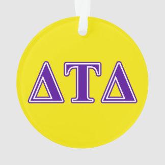 Delta Tau Delta Purple Letters