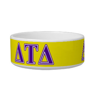 Delta Tau Delta Purple Letters Bowl
