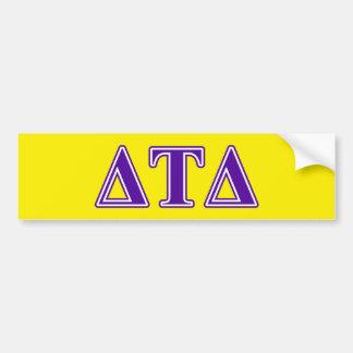 Delta Tau Delta Purple Letters Bumper Sticker