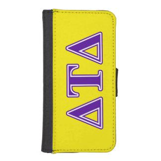 Delta Tau Delta Purple Letters iPhone SE/5/5s Wallet Case