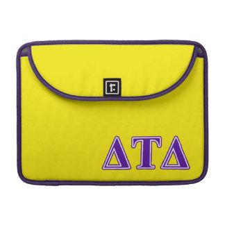 Delta Tau Delta Purple Letters Sleeves For MacBook Pro