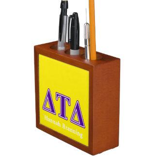 Delta Tau Delta Purple Letters Pencil Holder