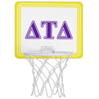 Delta Tau Delta Purple Letters Mini Basketball Backboard