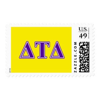 Delta Tau Delta Purple Letters Stamp