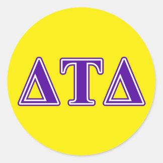 Delta Tau Delta Purple Letters Sticker