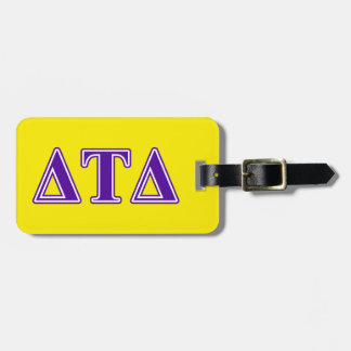 Delta Tau Delta Purple Letters Tag For Luggage