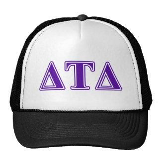 Delta Tau Delta Purple Letters Trucker Hat