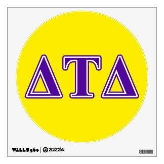 Delta Tau Delta Purple Letters Wall Sticker