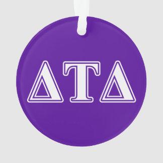 Delta Tau Delta White and Purple Letters